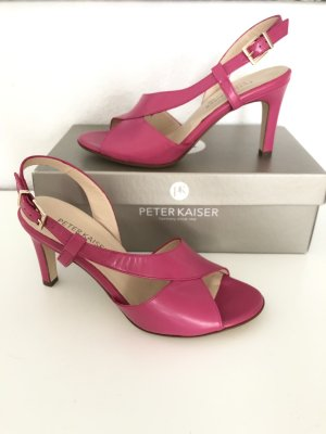 Peter Kaiser Strapped High-Heeled Sandals multicolored leather