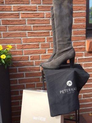 Peter Kaiser Jackboots grey leather