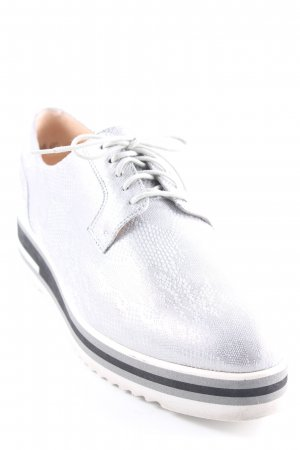 Peter Kaiser Lace Shoes silver-colored animal pattern casual look