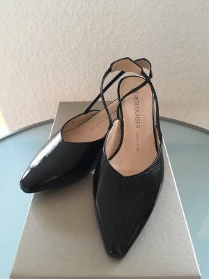 Peter Kaiser Sling Pumps Lackleder schwarz 36,5/3,5 NEU
