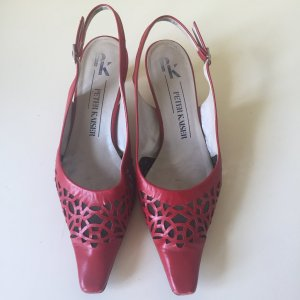 Peter Kaiser Slingback Pumps dark red leather