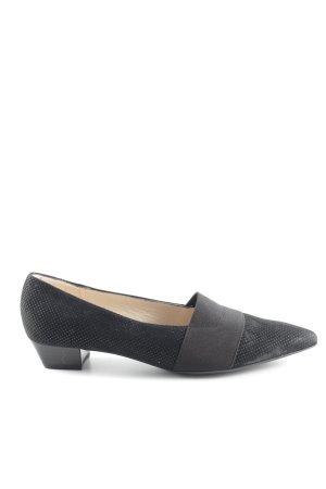 Peter Kaiser Zapatos formales sin cordones negro-color plata estilo «business»