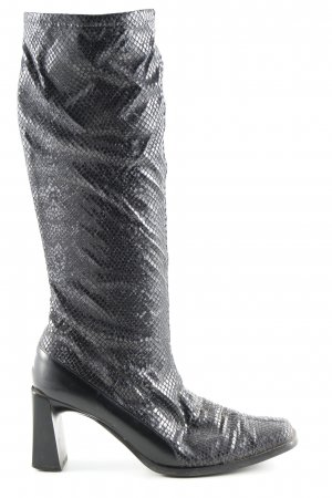 Peter Kaiser Slouch Boots black animal pattern casual look