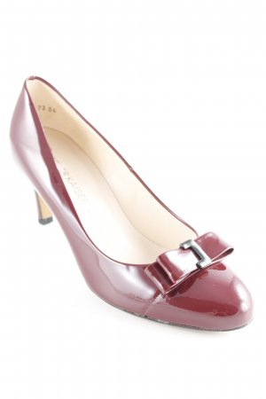 Peter Kaiser Spangen-Pumps bordeauxrot Business-Look