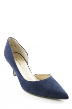 Peter Kaiser Spitz-Pumps dunkelblau Business-Look