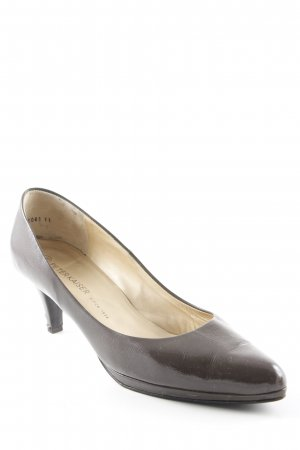 Peter Kaiser Spitz-Pumps hellbraun Lack-Optik