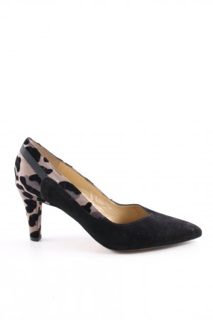 Peter Kaiser Pointed Toe Pumps leopard pattern business style