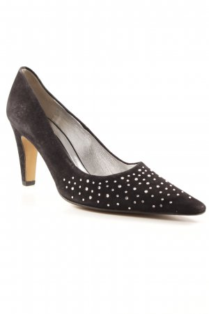 Peter Kaiser Pointed Toe Pumps black-silver-colored party style