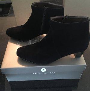 Peter Kaiser Zipper Booties black leather
