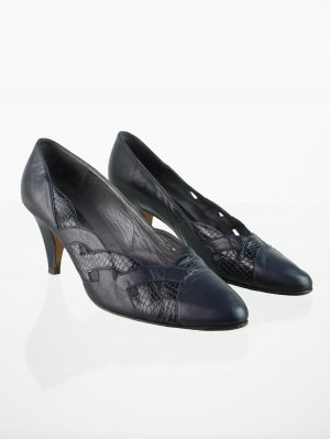 Peter Kaiser Vintage Pumps in Dunkelblau 38,5