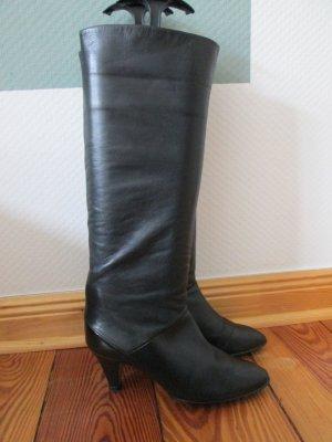 Peter Kaiser vintage Stiefel schwarz Echtleder Gr.4 (37)
