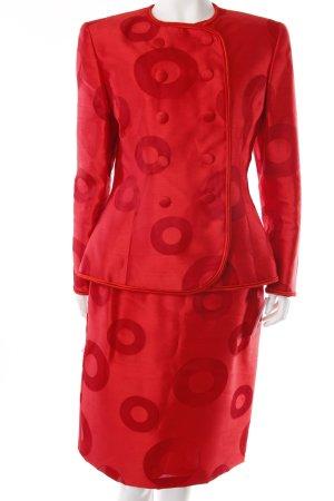 Peter Keppler silk suit red