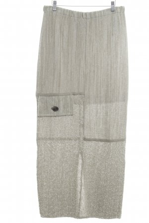 Peter Luft Linnen rok beige-grijs-groen Patroon-mengeling casual uitstraling