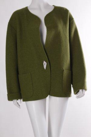 Peter Naumann Woll-Blazer grasgrün Casual-Look