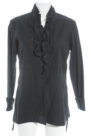 peter o. mahler Schlupf-Bluse schwarz klassischer Stil