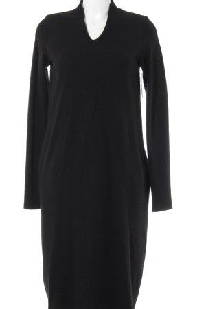 peter o. mahler Wollkleid schwarz schlichter Stil
