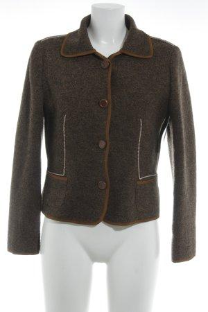 Peter Unützer Wool Blazer black brown flecked casual look
