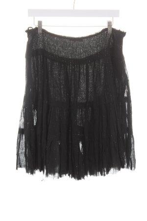 Peter Werth Plaid Skirt black extravagant style