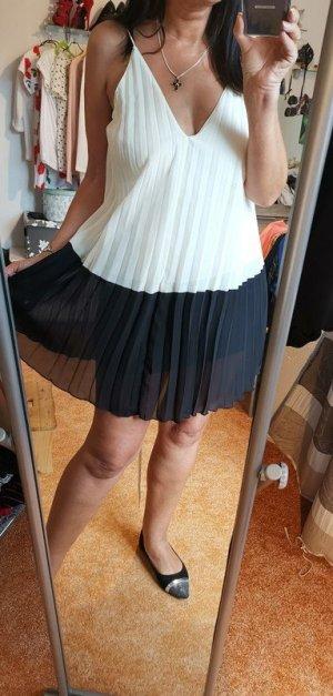 Asos A Line Dress white-black