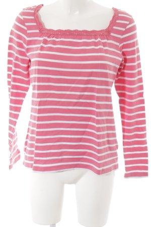 Petit bateau Longsleeve weiß-rosa Streifenmuster Casual-Look