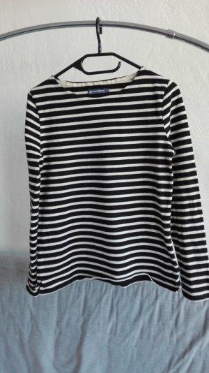 Petit bateau Oversized Sweater black-cream cotton