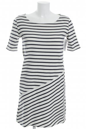 Petit bateau Sweater Dress natural white-dark blue striped pattern simple style