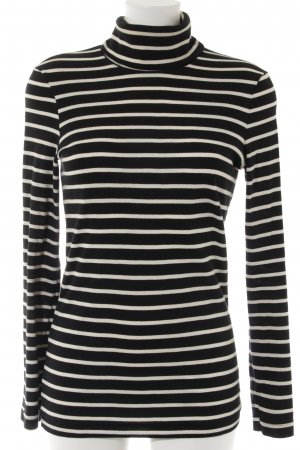 Petit bateau Turtleneck Shirt dark blue-natural white striped pattern