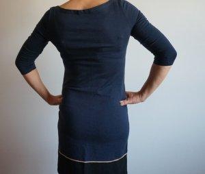 Petit Bateau Shirtkleid in dunkelblau-schwarz-gold