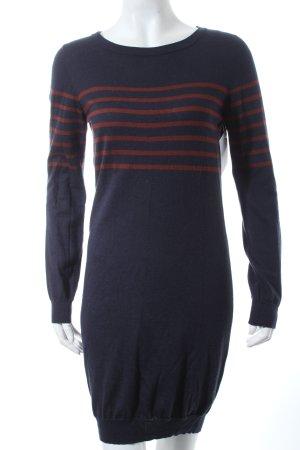 Petit bateau Strickbekleidung dunkelblau-rostrot Streifenmuster Casual-Look