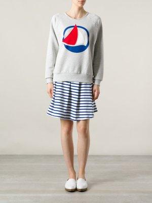 Petit Bateau Sweater Sweatshirt Grau zur Jogginghose Jogger Sweathose Yoga M L 38 40 42