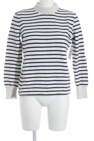 Petit bateau Sweatshirt weiß-dunkelblau Streifenmuster Street-Fashion-Look