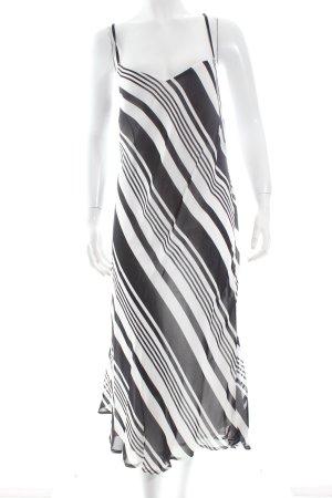 Petit Chou Midikleid wollweiß-schwarz Streifenmuster klassischer Stil