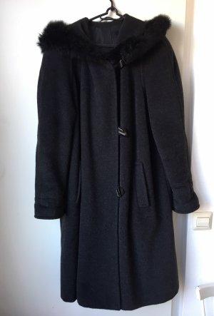 petite mademoiselle Manteau à capuche noir-gris anthracite
