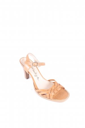 petite Mendigote Strapped High-Heeled Sandals camel street-fashion look