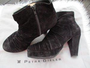 Petra Dieler Patucos con plataforma negro Cuero