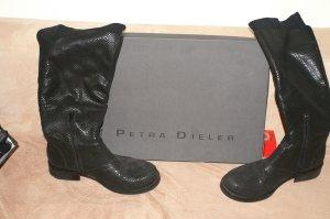 Petra Dieler Stiefel, Gr.: 40, Phytonleder, Schwarz
