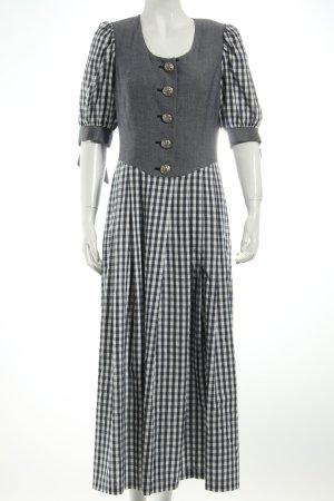 Petressa Dirndl dunkelblau-weiß Karomuster Vintage-Look