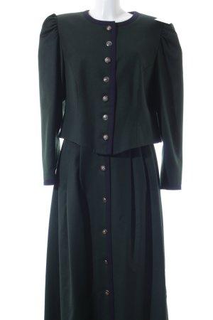 Petressa Traje para mujer verde oscuro-azul oscuro estilo clásico