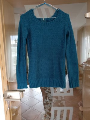 Petrol farbener kuscheliger Pullover