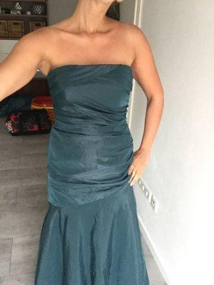 Petrol farbenes Ballkleid/ Abendkleid/ festliches Kleid lang