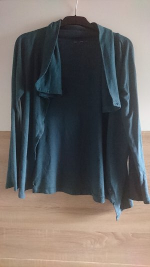 Veste chemise bleu pétrole-bleu cadet