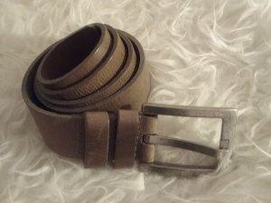 Cintura di pelle grigio