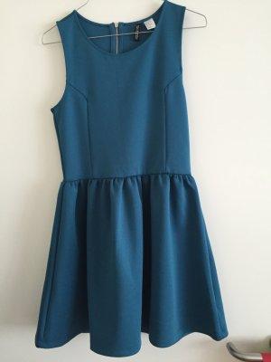 Petroleumfarbenes Neopren Kleid von H&M
