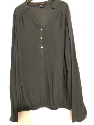 Petrolfarbene Bluse mit Bündchen