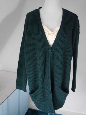 Petrolfarbene Strickjacke