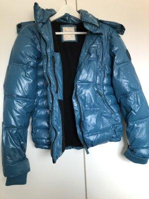 modélisation durable rabais de premier ordre détaillant Pull & Bear Veste d'hiver bleu pétrole-bleu cadet