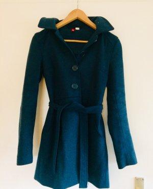 H&M Manteau à capuche bleu pétrole