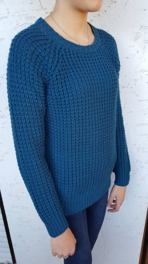"Petrolfarbener Strickpullover von ""Clockhouse"""