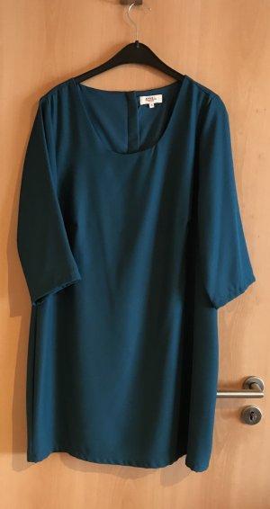 Petrolfarbenes A-Linien-Kleid