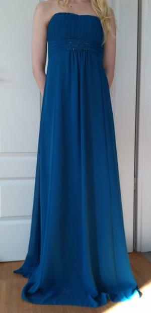 Petrolfarbenes Abendkleid von Vera Mont